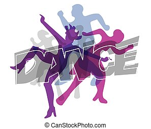 Modern dance colorful background - Disco and modern dancing...