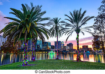 Orlando, Florida Cityscape - Orlando, Florida, USA downtown...