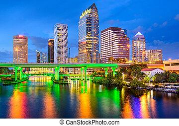 Tampa, Florida Skyline - Tampa, Florida, USA downtown city...