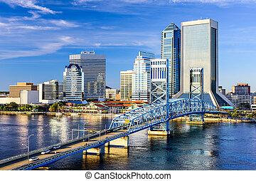 Jacksonville, Florida Skyline - Jacksonville, Florida, USA...