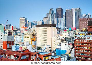Shinjuku Japan Cityscape - Tokyo, Japan cityscape at...
