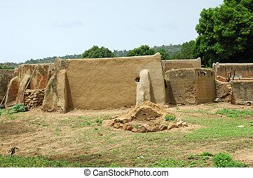African mud brick dwellings