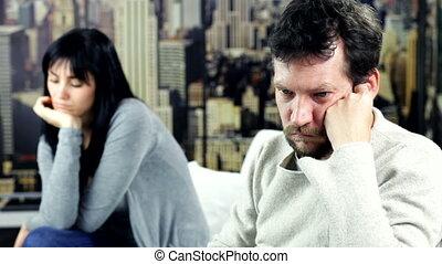 Man sad about couple problems