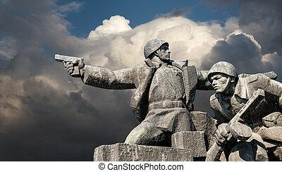 WW2, monumento conmemorativo, en, Kiev,