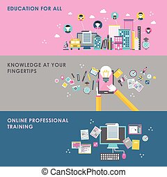 education concept in flat design