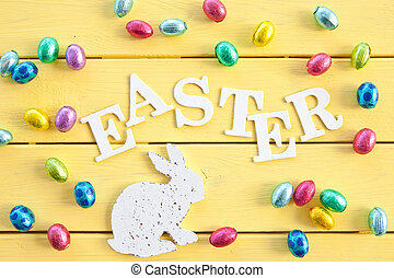 Chocolate eggs for easter - Colorful chocolate eggs for...