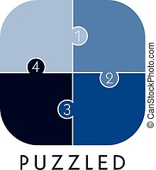puzzle problem solving - graphic art vector illustration
