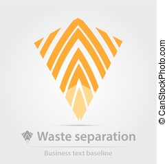 Waste separation business iconfor creative design