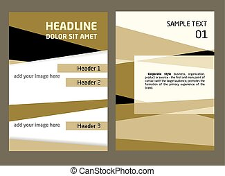 Brochure Flyer design vector template in A4 size Abstract,...