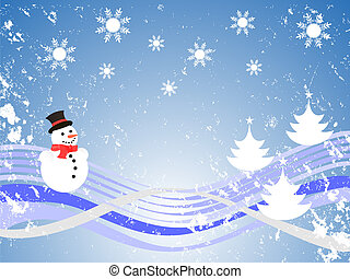 christmas time - vector illustration of a winter landscape...