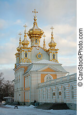 Church of the Big Palace, Peterhof, Russia - Church of the...