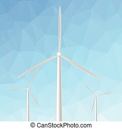 windmill - colorful illustration with windmill on blue...