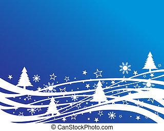 christmas - winter scene - vector illustration of an...