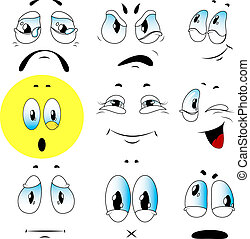 Vector set of emotions - With help of these faces you can...