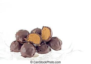 Hand Dipped Chocolate Covered Peanut Butter Creams - Hand...