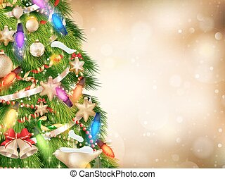 Gold Christmas background EPS 10 - Gold Christmas background...