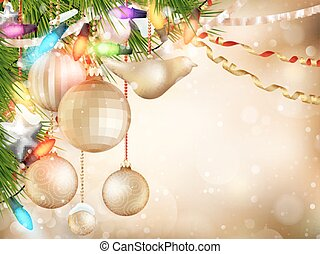 Gold Christmas background. EPS 10 - Gold Christmas...