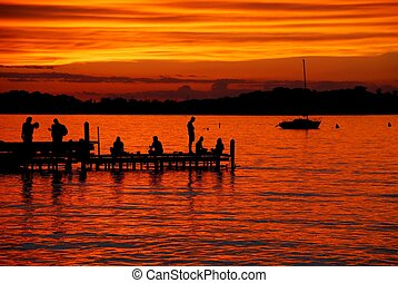 Lake Mendota sunset - Lake Mendota Sunset from the Memorial...
