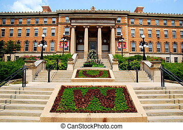 UW Madison agriculture building - The beautiful entrance to...