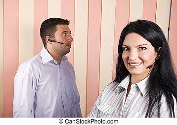 Call center operator team