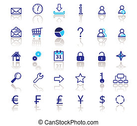 Web icons set - Web icons collection. Vector.