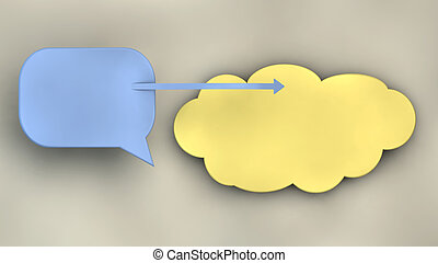 comunication symbols - illustration with communication...