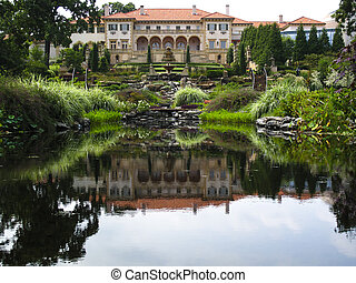 Philbrook Museum - Back lawn of Philbrook Museum in Tulsa...