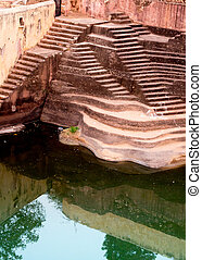 Step well in Nahargarh fort jaipur - Step well used as the...