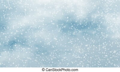 motion of winter snowflake snowfall
