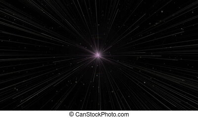 bright big star motion of a many cosmos small stars