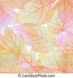 Detailed leaves seamless background. EPS 10 vector file...