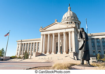 Oklahoma state capitol - State Capitol in Oklahoma city,...