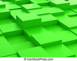 Abstract background of 3d blocks - Abstract background of...