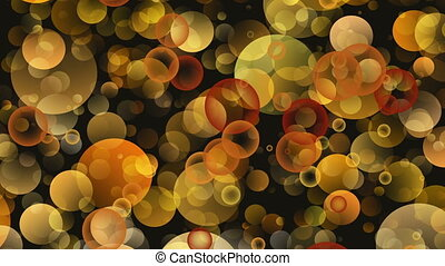 Warm Round Shapes in Chaotic Arrangement Bokeh backgrounds...