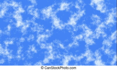 fast motion of blue sky clouds background - fast motion of...