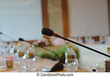 Microphone in the meeting room