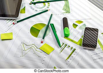 桌子, 材料, 辦公室, 工作