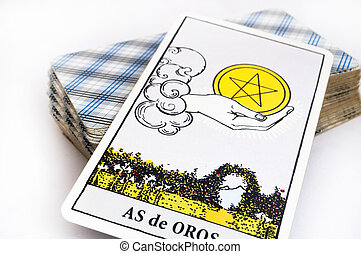 tarot card - the deck of Tarot cards on white background,...