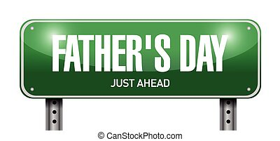 fathers day road sign illustration