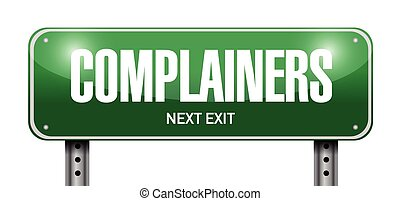 complainers street sign illustration design over a white...