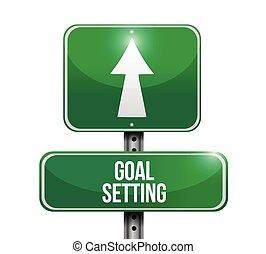 goal setting street sign illustration design