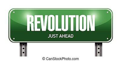 revolution street sign illustration