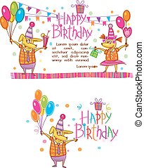 Template for Happy birthday cards
