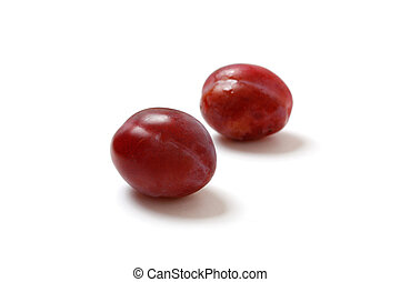 Plums - Two plums isolated on white