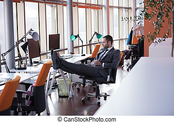 business man at the office - happy young business man...