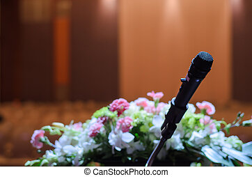 Microphone on the table