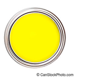 Paint can isolated on white background