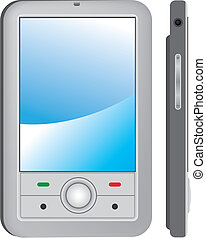 PDA - Vector PDA - front and side views