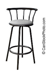 Bar Stool isolated with clipping path