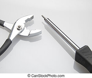 Pliers and Screwdriver - Product photograph of a pair of...